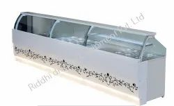 RIDDHI Stainless Steel Fast Food Display Counter, Warranty: 1 Year, For Chat Fast Food