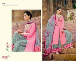Pink Color Printed Designer Suit