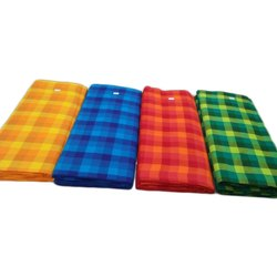 Check Multicolor Handloom Pure Cotton Fabric