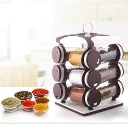 130ml Plastic Revolving Spice Rack Pack of 12