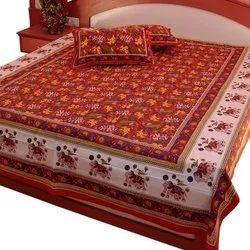 棉印花设计师双床床单,尺寸:109x80英寸,包装类型:包