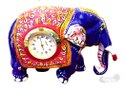 Metal Menakari Elephant With Watch Statue