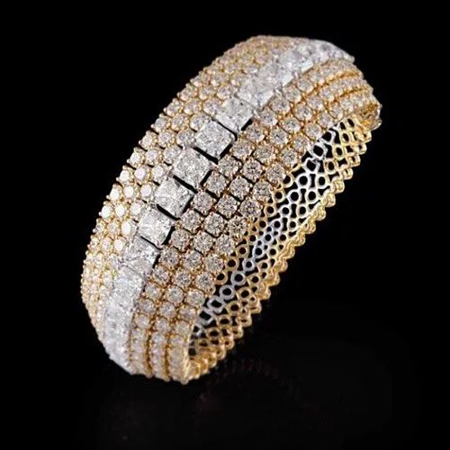 Real Diamonds Bangles Diamond Bangle, Packaging Type: Box
