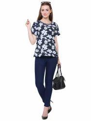 Georgette Half Sleeves Ladies Stylish Top