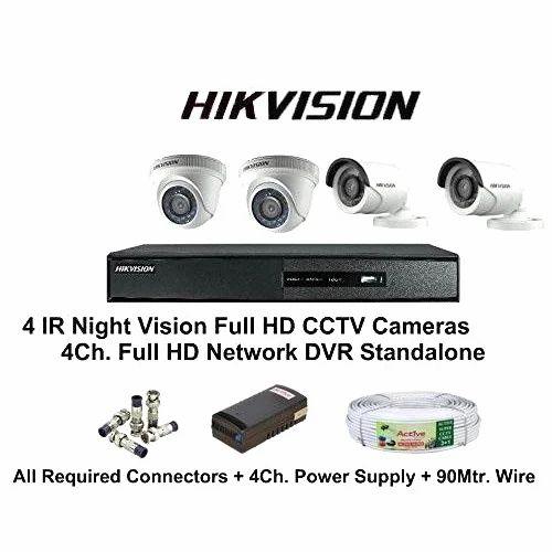 34806769bbc CP Plus Hikvision 4 CCTV Cameras And DVR Kit