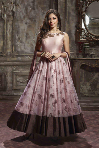 862e7f82191 Printed   Hand Work Bridal Gown at Rs 2700  piece