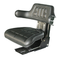 Leather Mild Steel Tractor Seat, Cushion Material: Foam