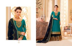 Wonderful Georgette Embroidered Palazzo Salwar Kameez