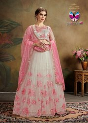 Embroidered Designer Net Lehenga Choli