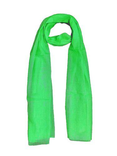 18e22e70c GIRRIJA Fluorescent Green stoles cotton stoles plain stoles ladies stoles  scarves womens stoles