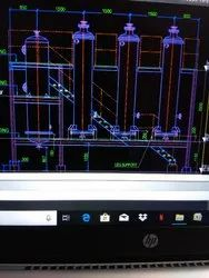 2d Layout And Plot Plan | Piping Layout | Plant Drawing