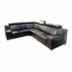 Astha Furniture L Shape Modular Leather Sofa Set