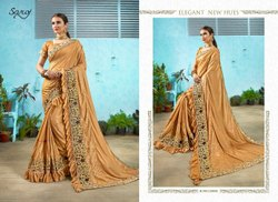 Fancy Designer Blue  Stylish Sarees