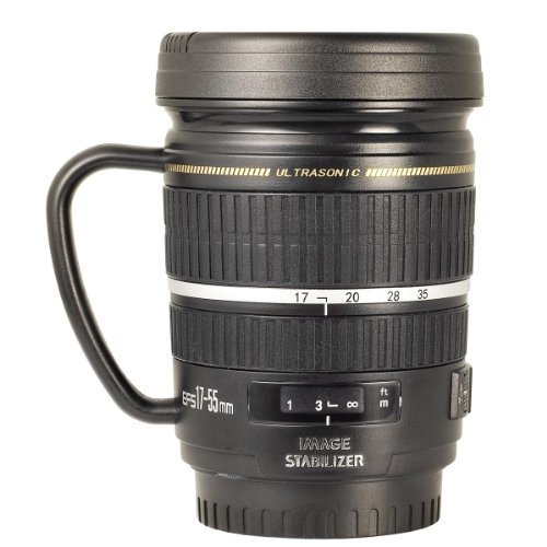 Mug Black Gift Lens Travel With Camera Handle Office xrdCBoe