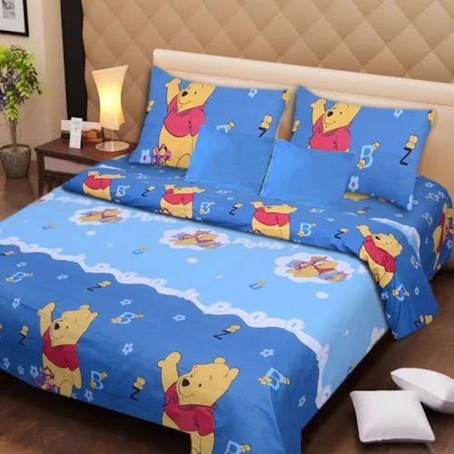 Cotton Printed Cartoon Bed Sheet Rs 490 Piece Sri Krishna Handloom Id 16902093888