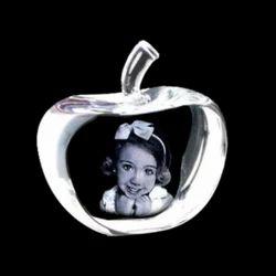 Stone Crystal Apple Shape Photo Frame, For Gift