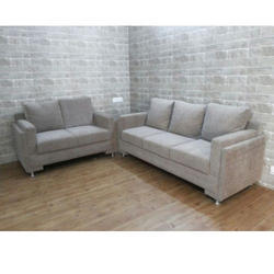 Leather and Stainless Steel Modern Sofa Set