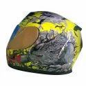 Multicolor Axr Wolf Helmet, Size: S