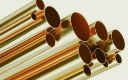 round and elliptical Brass Tubes 70:30, For Sugar Mill,Heat Exchanger, Wall Thickness: 0.3 Mm To 10 Mm