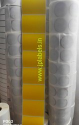 100 mm X 75 mm Yellow Printed Labels