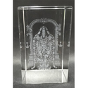3D Crystal Balaji Engraved