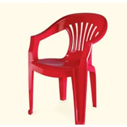 Neelkamal Red Plastic Chair