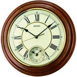 White Analog QXA494B Seiko Wall Clock, For Home, Size: 30.2x30.2x4.5 Cm