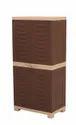 Plastic Double Door Fusion 2 Cupboard St132, Size: (h)1230 (w)590 (d)375