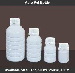 Screw Cap White Agro PET Bottle, For Chemical Packaging, 250 ml