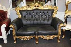 Wood Metal Sofa