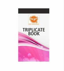 Multicolor Paper Triplicate Book