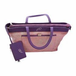 Handbags PINK & BLUE Ladies Hand Bag, for Casual Wear