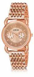 Lorem Party Wear Rose Gold Woman Watch