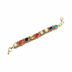 Navaratna Gemstone Bracelet