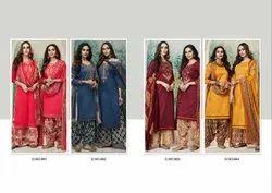Designer Satin Print Salwar Suit