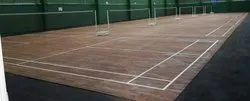 TEAK WOOD BADMINTON COURT
