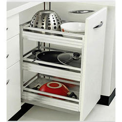Three Shelf Pullout Basket with Telescopic Channel
