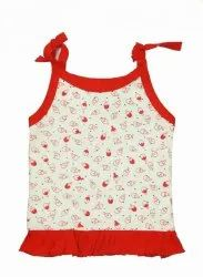 Baby Girl Printed Vest With Freel