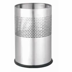 Silver Round Airport Dustbins