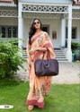 Printed Linen Silk Saree