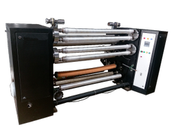 Ocean Extrusions Tape Slitting Rewinding Machine, Capacity: 60-120 Kg/hr