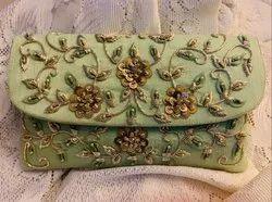 Designer handwork clutch