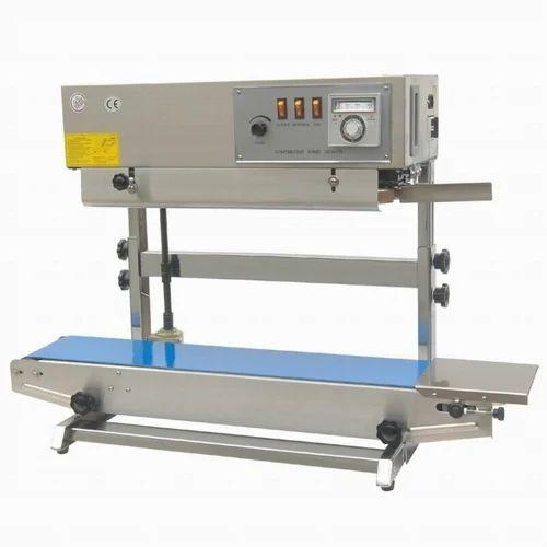 Vertical Tabletop Continuous Bag Sealers Machine
