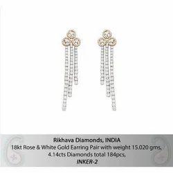 Party Wear Real Diamond Earrings