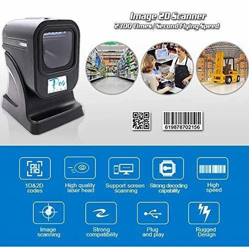 Posprint 1D/2D/QR Best Presentation Scanner 2D Omni Directional Barcode  Scanner Windows Laser
