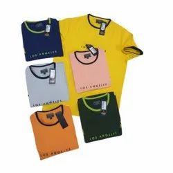 Boys Round Neck Printed Cotton T Shirt, Size: S-Xxl
