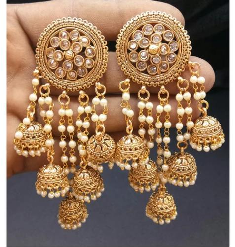 Golden Traditional Earring