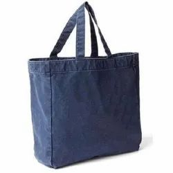 Canvas Plain Denim Bags For Shopping, Capacity: 4-5 Kg
