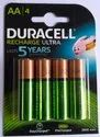 Green Duracell Aa Rechargeable Battery, Capacity: 2500 Mah, Voltage: 1.2v