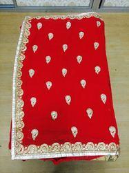 Semi Bridal Red Sarees